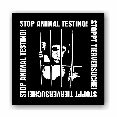 Aufnäher: Stoppt Tierversuche!