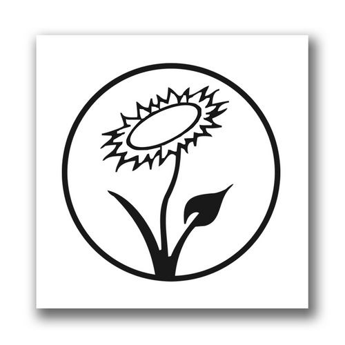 Aufnäher: Veganblume