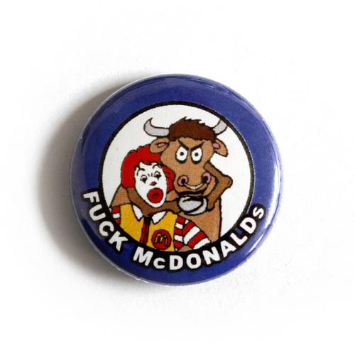 "Button ""Fuck Mc Donalds"""