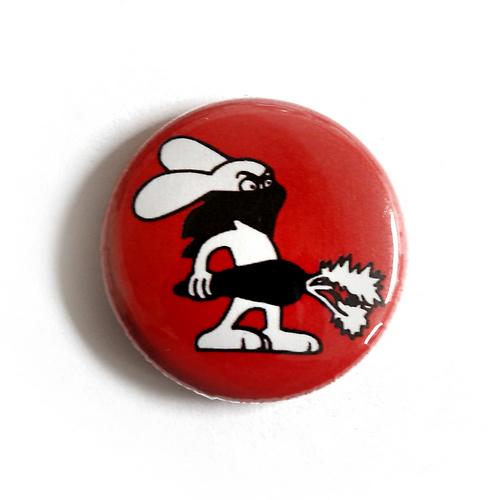 "Button ""Rabbit - red"""