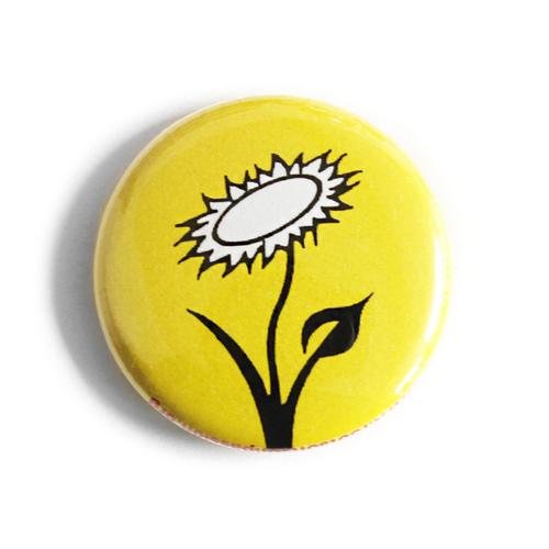 "Button ""Veganblume - gelb"""