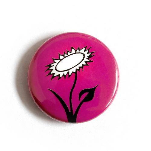 """Button """"Veganblume - pink"""""""