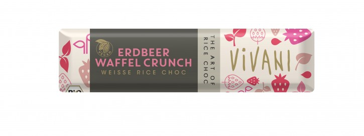 Veganer Erdbeer Crunch BIO RIEGEL, 35g