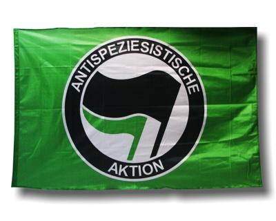 "Fahne ""Antispeziesistische Aktion"" - grün"