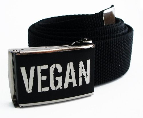 """Gürtel """"Vegan"""" schwarz 110 cm"""