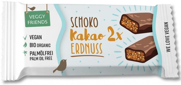 Veggy Friends Schokoriegel Kakao-Erdnuss BIO, 35g