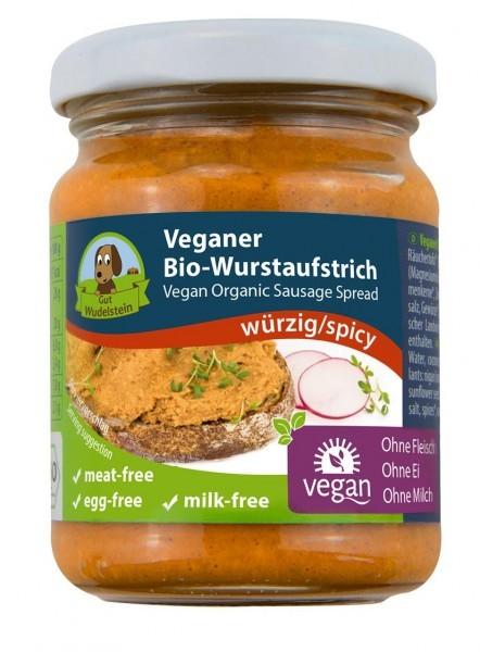 Gut Wudelstein Veganer Bio-Wurstaufstrich würzig, 120g