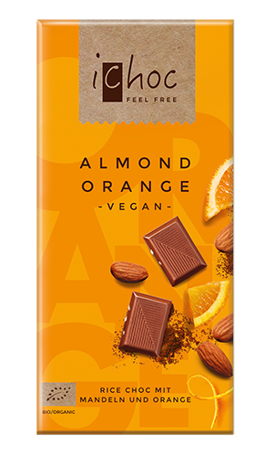 ichoc Almond Orange BIO, 80g
