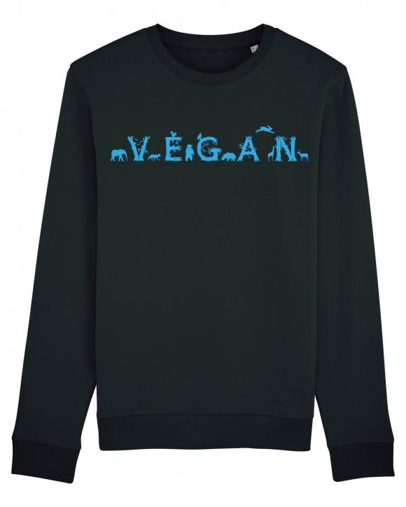 """Sweatshirt """"Vegan - Tiere"""" M"""