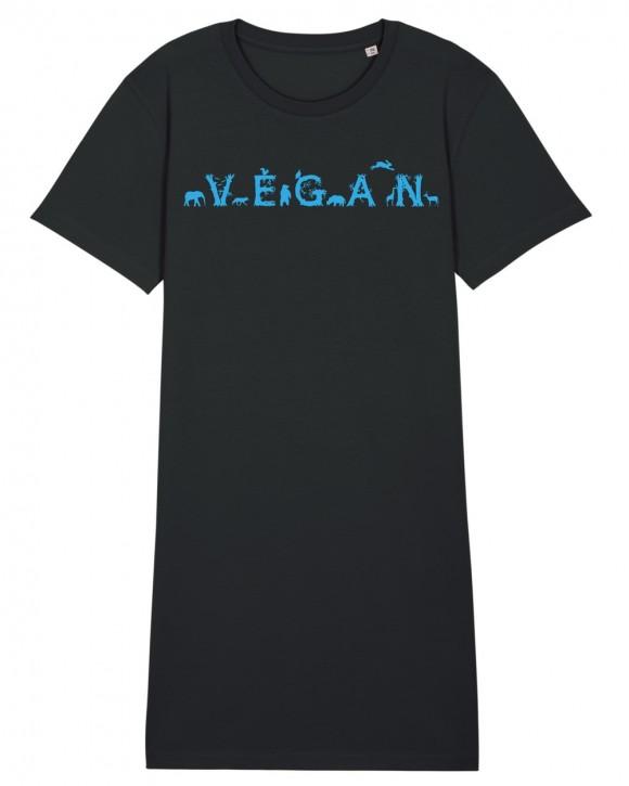 """T-Shirt Kleid """"Vegan - Tiere"""""""