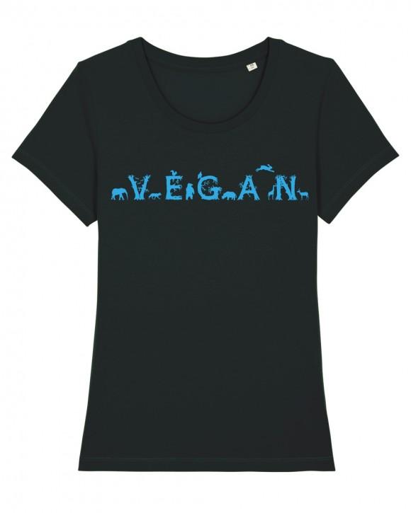"""Tailliertes Shirt """"Vegan - Tiere"""""""